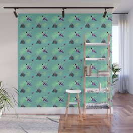 Crows and berries Wall Mural
