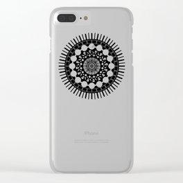 Mandala of Procrastination Clear iPhone Case