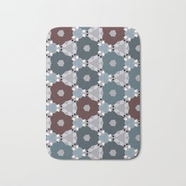 Kaleidoscope Flowers Winternight Bath Mat