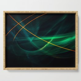 Abstract forms of light. Serving Tray