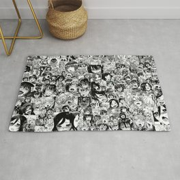 Ahegao hentai faces Rug