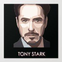 tony stark Canvas Prints featuring Tony Stark by Lany Nguyen