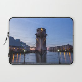 USS Wisconsin at Sunset Laptop Sleeve