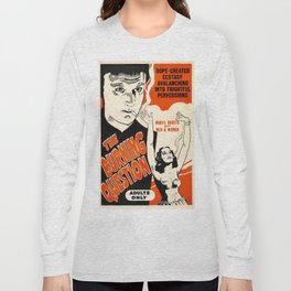 Vintage Poster The Burning Question Long Sleeve T-shirt