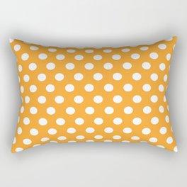 Orange Dot Pattern Rectangular Pillow