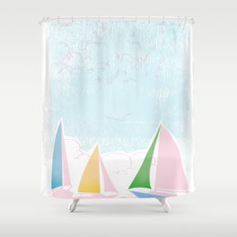 Sails for mee Shower Curtain