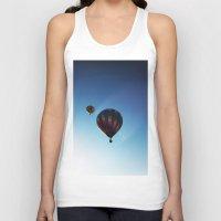 hot air balloons Tank Tops featuring Rainbow Hot Air Balloons by Rachel Butler