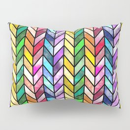 Rainbow Cathedral Window Pillow Sham