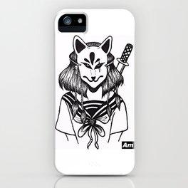 Kitsune Warrior iPhone Case
