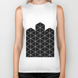 Black And White Stack Biker Tank