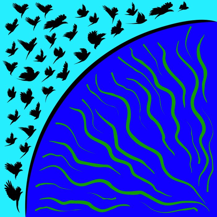 Flying Bird. Crows fly over planet Earth Comforters