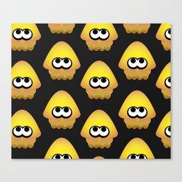 Splatoon Squid Pattern Yellow Canvas Print