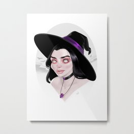 Purple Witch Metal Print