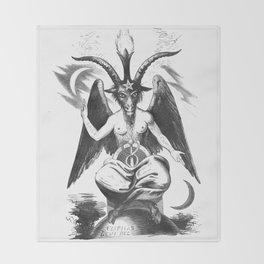 Baphomet - Satanic Church Throw Blanket