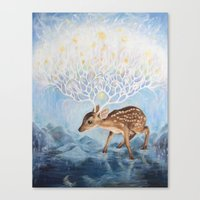 antlers Canvas Prints featuring Antlers by Lucy Yu { Artwork }