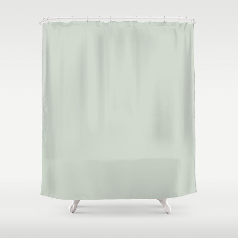 Green Linen Shower Curtain