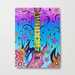 Fusion Keyblade Guitar #65 - Kairi's Keyblade & Marluxia's Scythe Metal Print