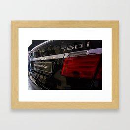 BMW Serie 7 750i M Sport Back Framed Art Print