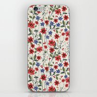 poppies iPhone & iPod Skins featuring Poppies by moniquilla