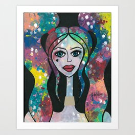 Harlie Mixed Media on Canvas Art Print