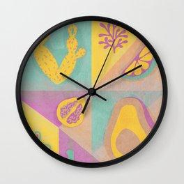 Botanical slice of color Wall Clock