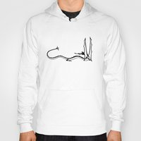 smaug Hoodies featuring Smaug the Magnificent by Cattoc C