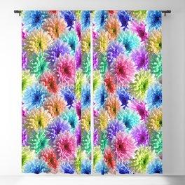 Rainbow Daisy Decoupage Blackout Curtain
