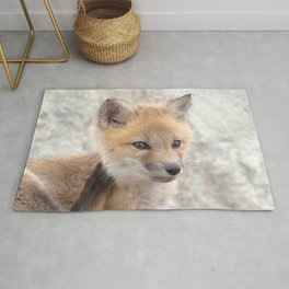 Watercolor Fox, Red Fox 95, Union Reservoir, Boulder Rug