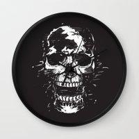 scream Wall Clocks featuring Scream by Balazs Solti