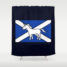 Unicorn, Scotland's National Animal Shower Curtain