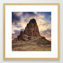 Monolith Sunset - American Southwestern Landscape - Square Format Framed Art Print