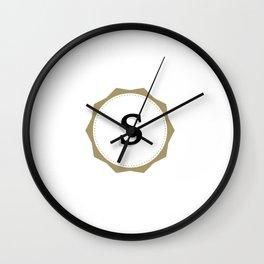 Vintage Letter S Monogram Wall Clock