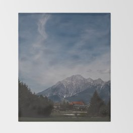 View of Austrian Alps Throw Blanket
