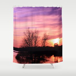 Pink Sky at Dusk Shower Curtain