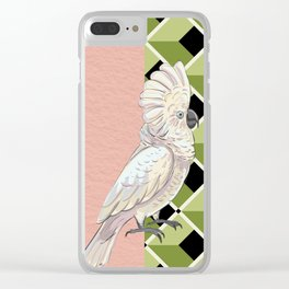 Cockatoo Vibes Clear iPhone Case