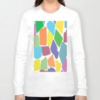 the strokes Long Sleeve T-shirts featuring Brush Strokes by Rosie Brown