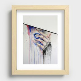 Jay Freestyle - Girl painting Recessed Framed Print
