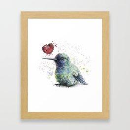 Lovely hummingbird Framed Art Print