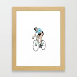 Coppi on Track Framed Art Print