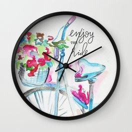 Enjoy the Ride - Bike Wall Clock