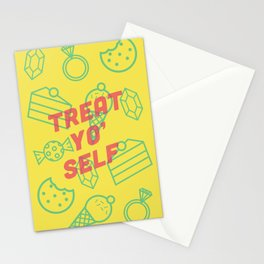 Treat Yo' Self Stationery Cards