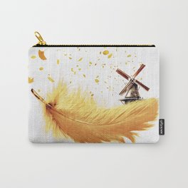 Air Feather • Yellow Feather (horizontal) Carry-All Pouch