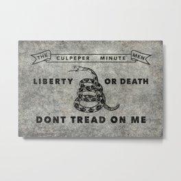 Culpeper Minutemen flag, Worn distressed textues Metal Print