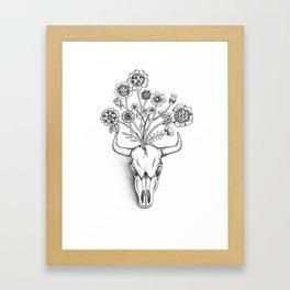 Animal Skull Bouquet Framed Art Print
