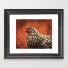 Red Chicken Framed Art Print