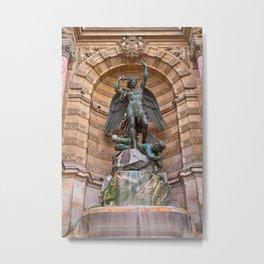 Saint-Michel Fountain Metal Print