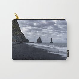 Black beach Carry-All Pouch