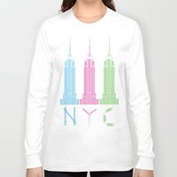 nyc Long Sleeve T-shirts featuring NYC by ANIMALS + BLACK