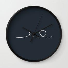 Deep Water - Minimal FS - by Friztin Wall Clock