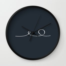 Deep Water - Minimal FS - by Friztin Wall Clock